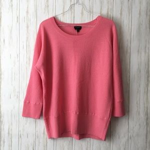talbots • Fine Merino Wool Pink Slouchy Sweater